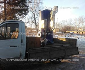 Дизельный парогенератор UPG-900 для молокозавода